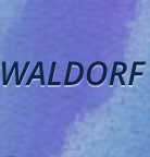 Word Waldorf on purple background