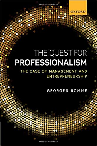 The Quest for Professionalism: The Case of Management and Entrepreneurship Book Cover