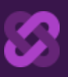 two interlinked purple links